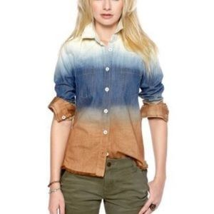 Free People Ombré Button Down Shirt